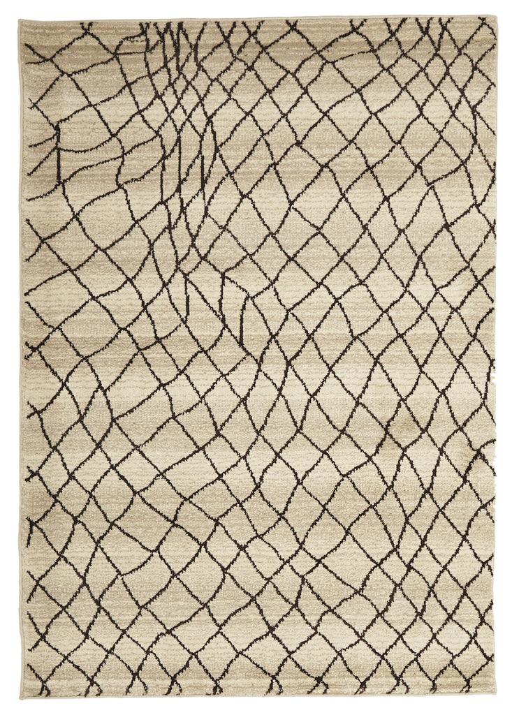 Moroccan Web Design Rug Cream
