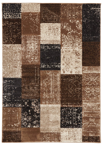 Patchwork Design Blue Rug