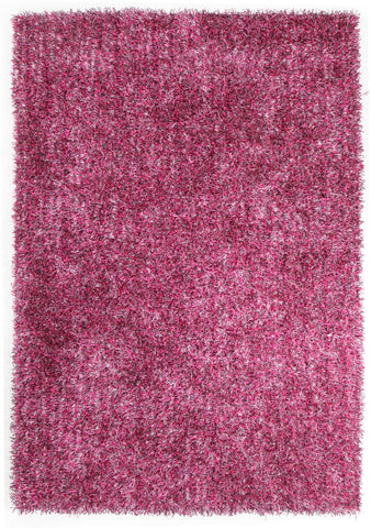 Metallic Thick, Thin Shag Rug Fusion Berry