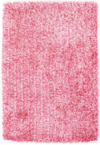 Metallic Thick, Thin Shag Rug Pink