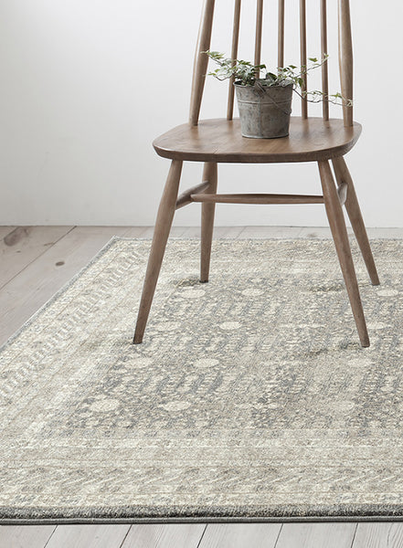 Breeze Orb Silver Rug