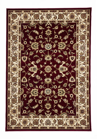 Classic Rug Red with Ivory Border