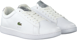 LACOSTE CARNABY EVO WIT/ZILVER DAMES