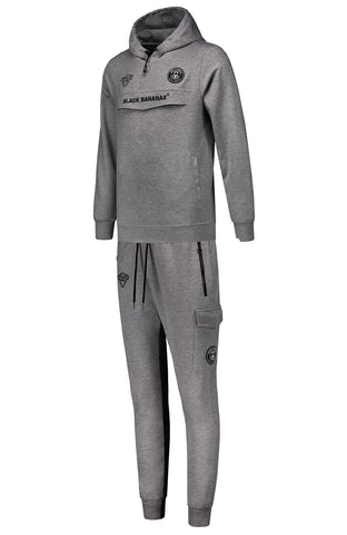 BLACK BANANAS ANORAK HOODED TRACKSUIT GREY