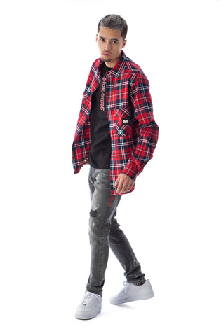 FRANCIS FLANNEL RED
