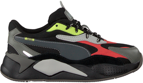 RS-X³ CITY ATTACK ZWART/GRIJS KIDS