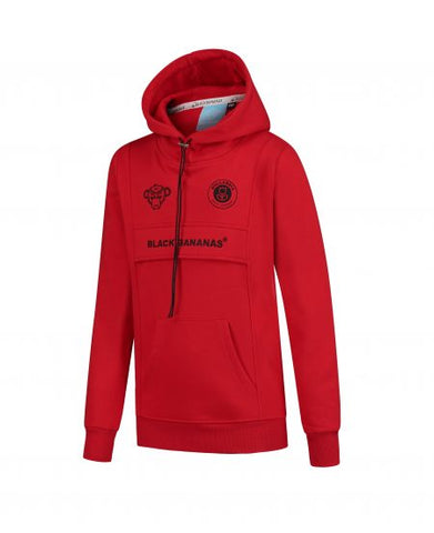 JR ANORAK KANGAROO HOODY RED