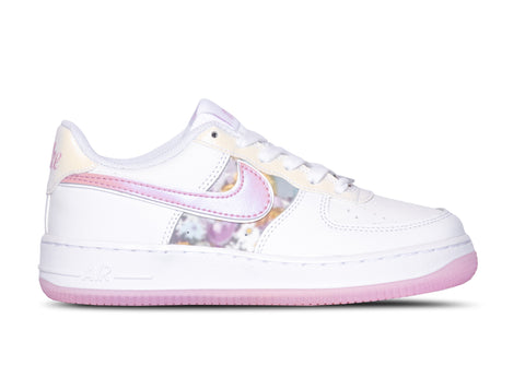 NIKE AIR FORCE 1 LV8 (GS) PINK/METALLIC