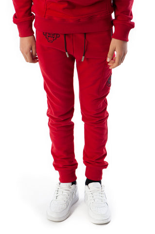 BLACK BANANAS FLEECE JOGGER RED JUNIOR