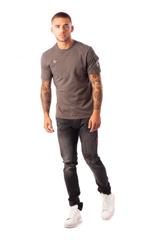 PETE POCKET TEE GREY