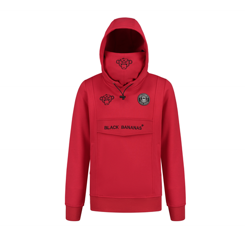 JR MASK HOODY RED