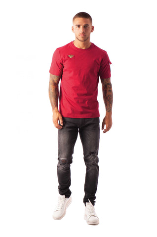 PETE POCKET TEE BURGUNDY