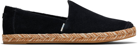 TOMS PISMO BLACK SUEDE WOMAN