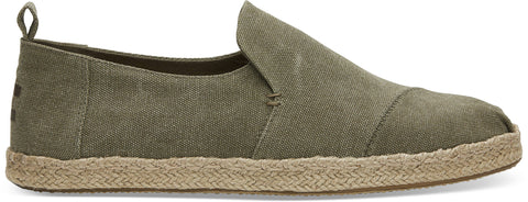 TOMS DECONSTRUCTED ALPARGATA OLIVE MEN