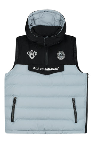 BLACK BANANAS ANORAK BLOCK BODYWARMER GREY