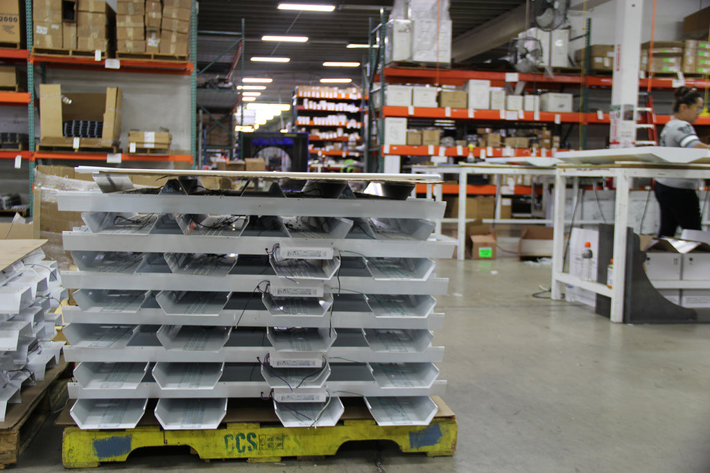 AEI Lighting is your Made In USA LED Lighting manufacturer for high bay lighting for warehouse, distribution centers, retail and production facilities