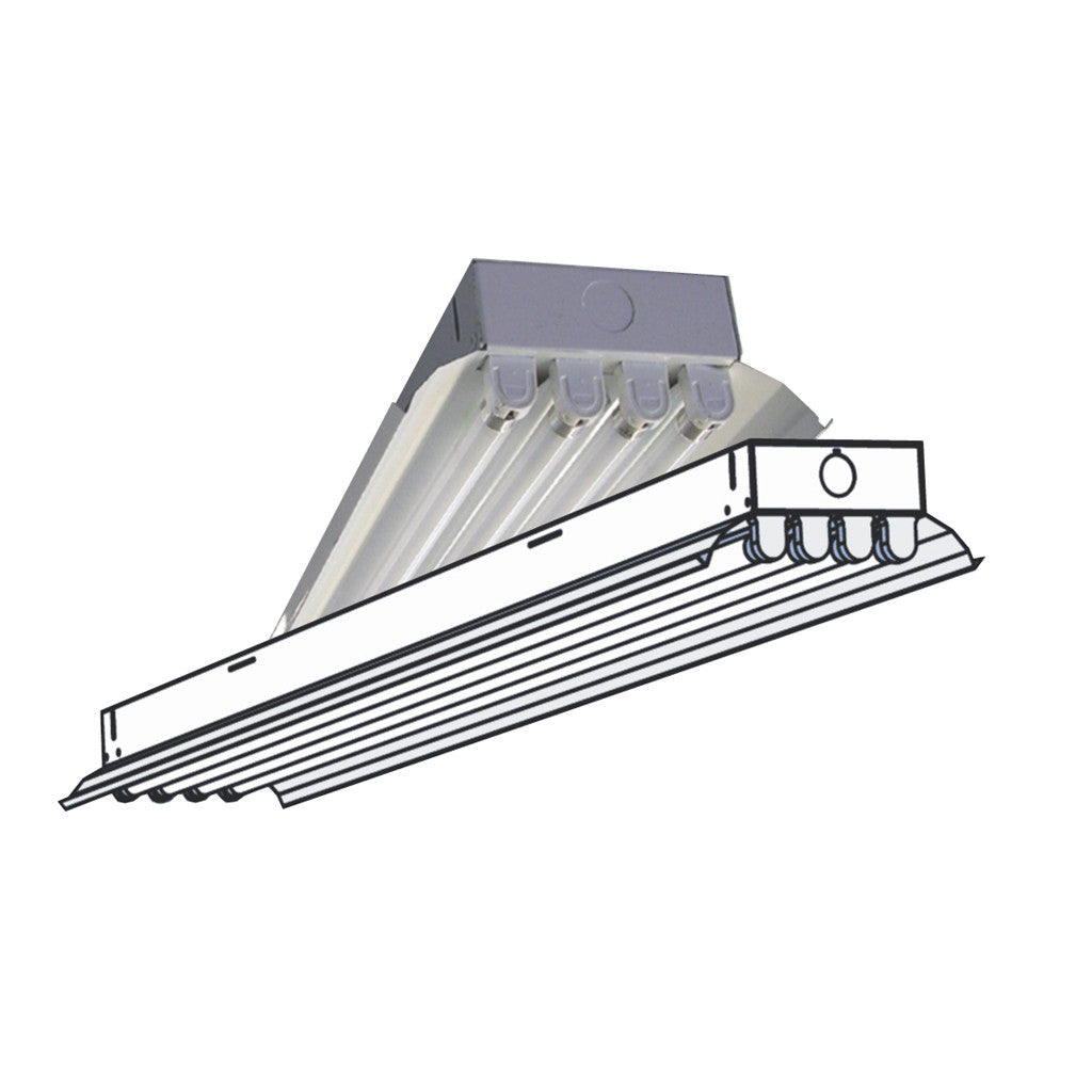 T5 t5ho low bay fixtures aei lighting 480 733 6594 aei lighting t5ho fluorescent t5ex 4 6 lamp high bay fixture for extreme environments arubaitofo Image collections