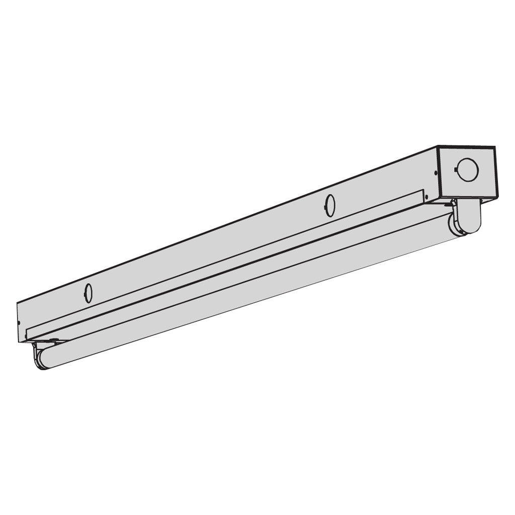 T8 fluorescent t8ms mini strip fixture aei lighting 877 aei lite t8 fluorescent t8ms single lamp mini strip lighting fixtures aloadofball Image collections
