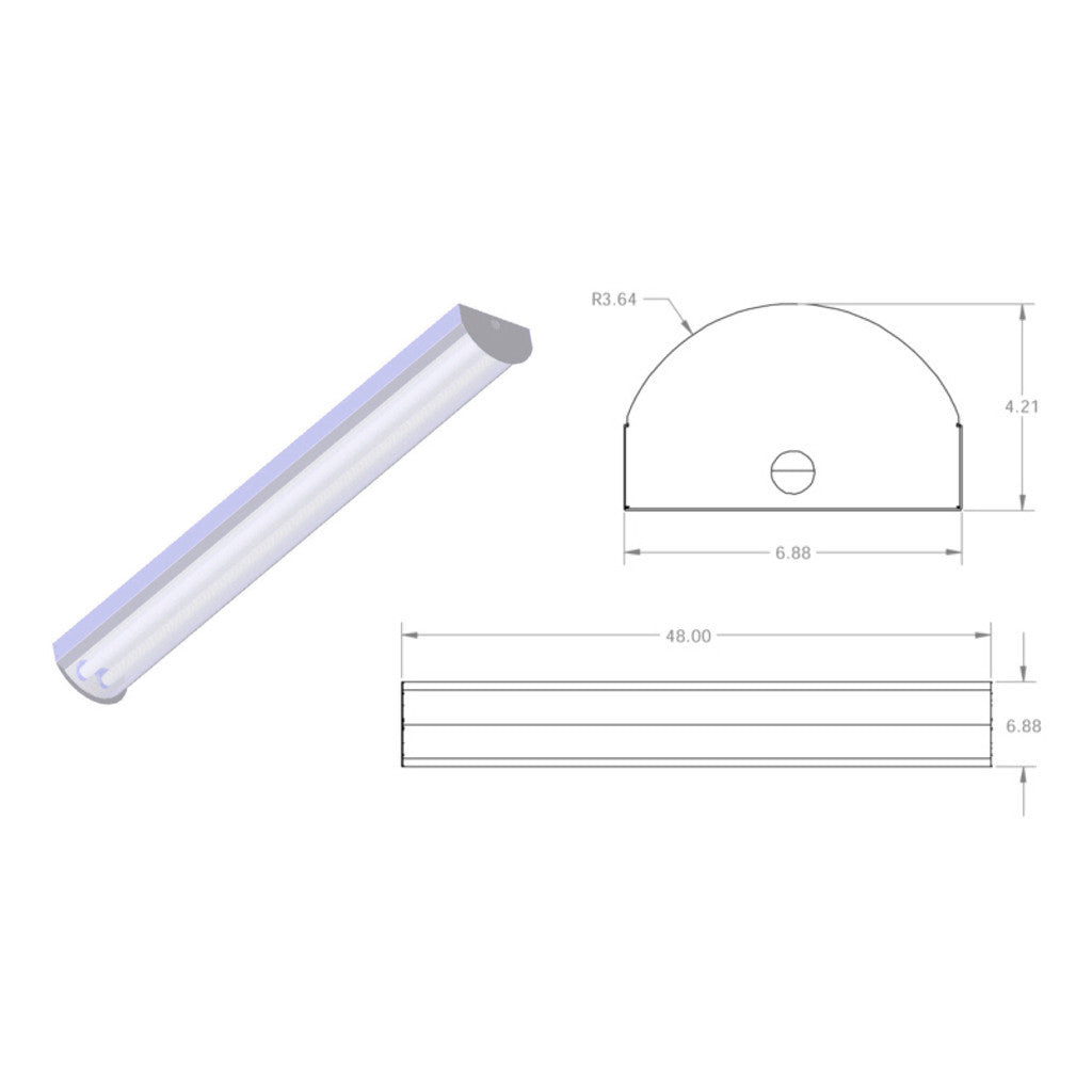 T8 High Bay Fluorescent Light Fixture: T8 Fluorescent Radial Wrap Fixture