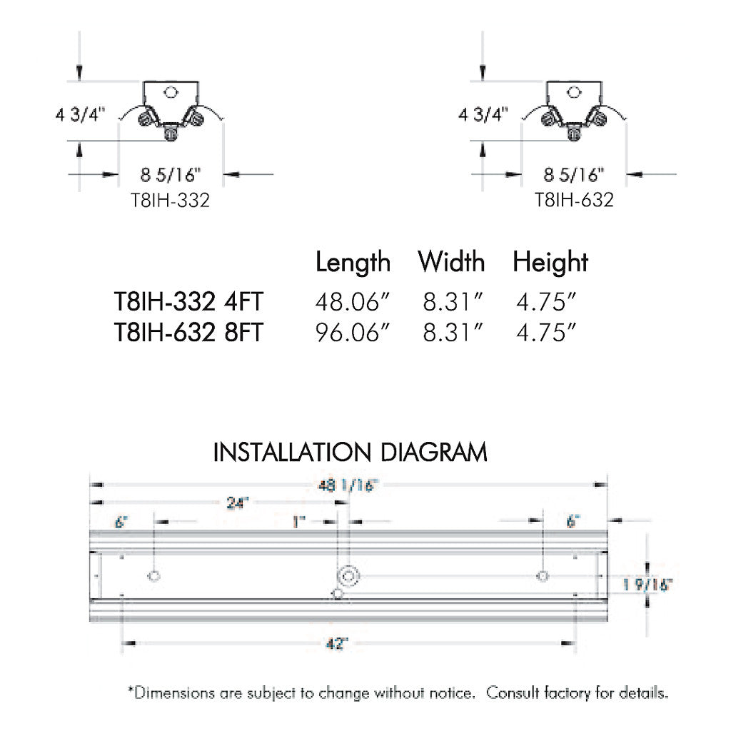 4ft 4 Bulb T5 Fixture With Sensor Wiring Diagram Wiring