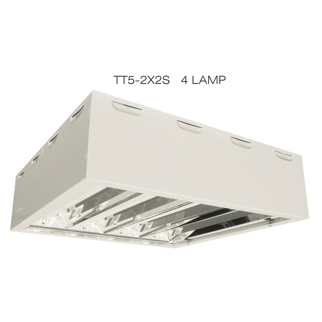 T5ho Twin Fluorescent 3 4 5 Lamp Surface Mount Lighting Fixtures
