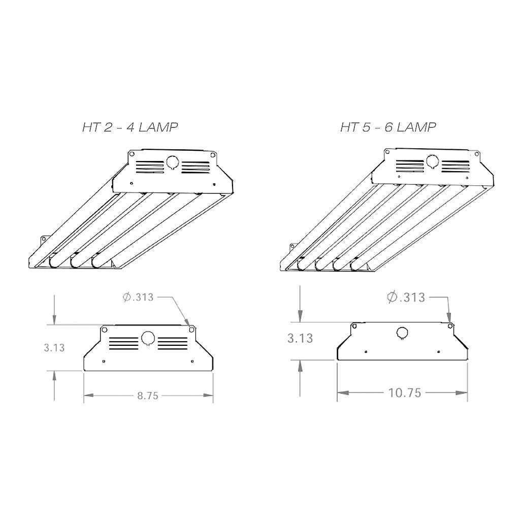 T8 High Bay Fixtures Aei Lighting 480 733 6594 877 Lite 6 Lamp Ballast Wiring Diagram With Two Fluoresecent T8ht 2 3 4 5 Temp Industrial Fixture