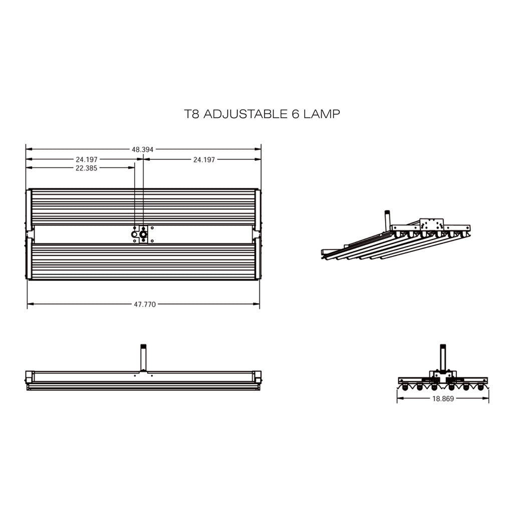 T8 High Bay Fixtures Aei Lighting 480 733 6594 877 Lite Electronic Ballast Wiring Diagram Free Picture Fluorescent Adjustable 4 6 8 Lamp Linear