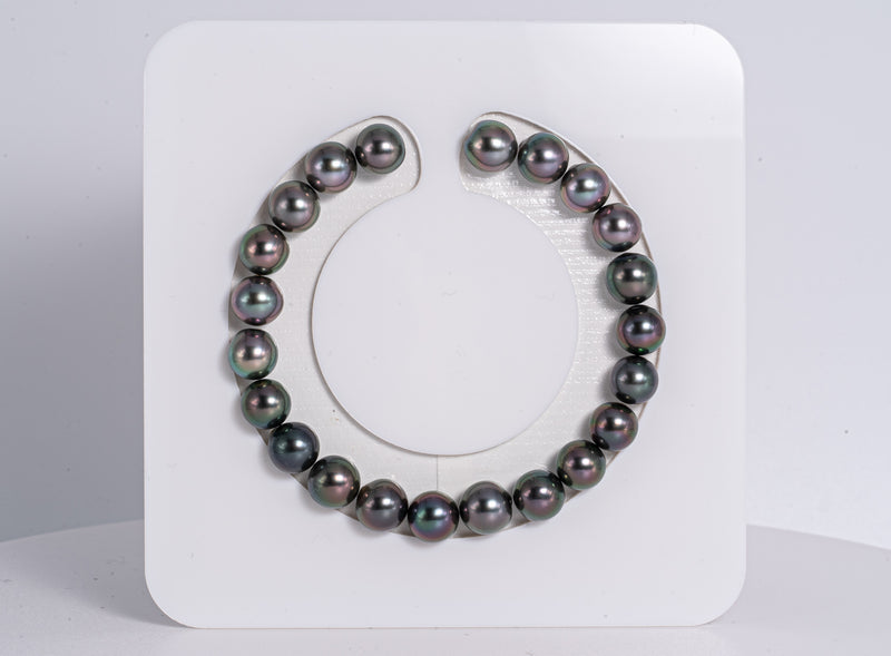 "22pcs ""All Around Cherry"" Bracelet - Semi-Round 8mm AA quality Tahitian Pearl"
