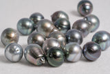 13mm Circle AA Blue Mix Tahitian Pearls