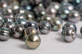 10mm Short Circle AA Multi Color Tahitian Pearls