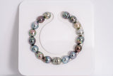 17pcs Multi Color Bracelet - CL 9mm TOP quality Tahitian Pearl