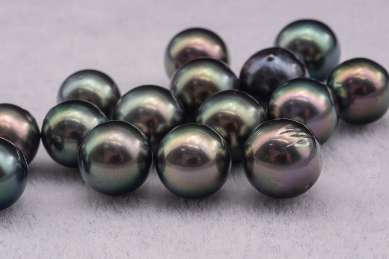 LOT 3 - SR - AB - PEACOCK -  8-13mm - BUY Tahitian Pearls jewellery wholesale - CMWPEARLS.COM