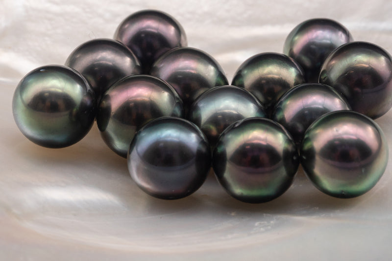 LOT 2 - RSR - BC - DARK GREEN - 10MM-12MM - CMW PEARL
