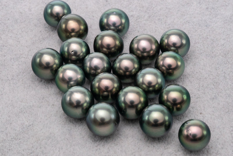 20pcs 9mm SR AAA Peacock Green