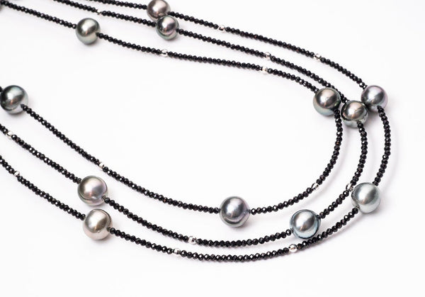 9-10mm Tahitian Pearl - 100cm Long Handmade Necklace - BUY Tahitian Pearls jewellery wholesale - CMWPEARLS.COM