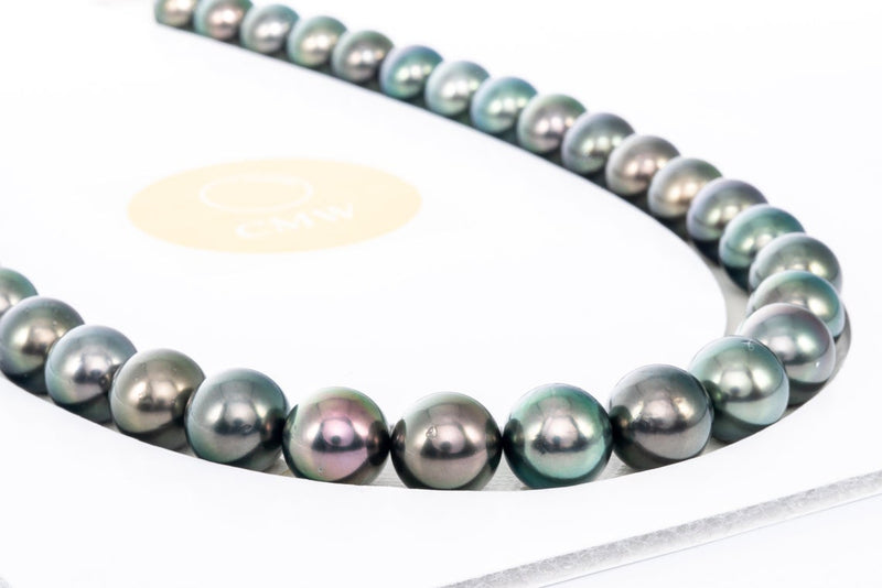 37pcs - AA Round Necklace/For Sets 11-13mm - BUY Tahitian Pearls jewellery wholesale - CMWPEARLS.COM