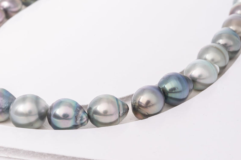 34pcs - Circle Necklace set 9-11mm - BUY Tahitian Pearls jewellery wholesale - CMWPEARLS.COM