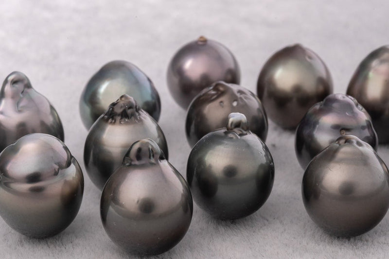 13mm Semi-Baroque AAA Dark Mix Tahitian Pearl - BUY Tahitian Pearls jewellery wholesale - CMWPEARLS.COM