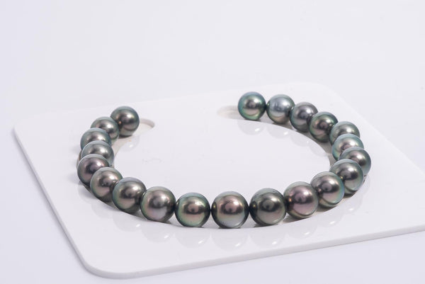 Great Bracelet Price - 21pcs Green 8-9mm R/SR AA quality