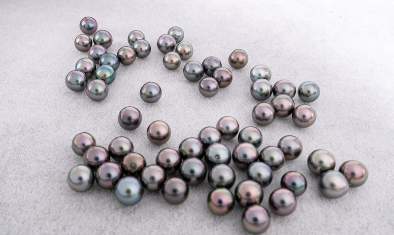 8mm Cherry Tone Multi Color AAA quality Semi-Round Tahitian Pearl