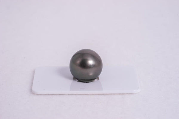 15.8mm Single Pearl in Green Color - Tahitian Black Pearl AA quality