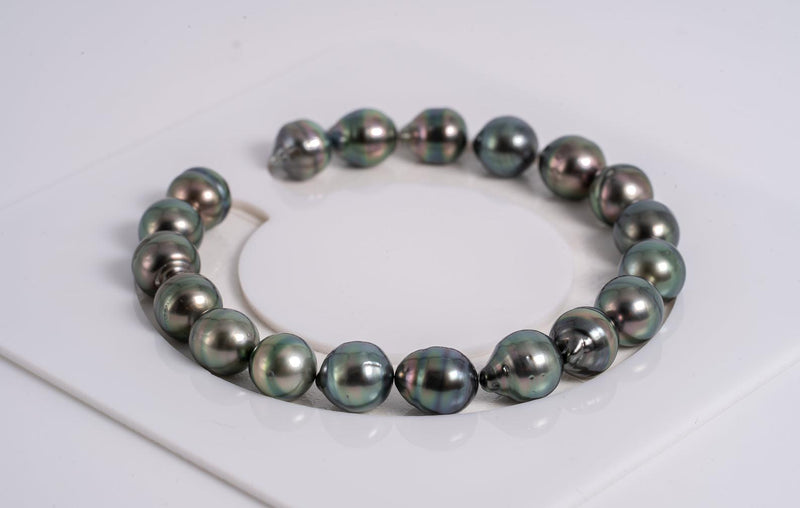 "19pcs ""Peacock Chronicles V"" Bracelet - Circle 8mm AAA/AA quality Tahitian Pearl"