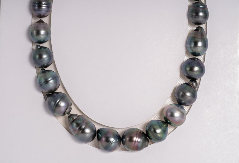 "Baroque 28pcs ""Purple Tone"" Necklace - 12-14mm AAA quality Tahitian Pearl"