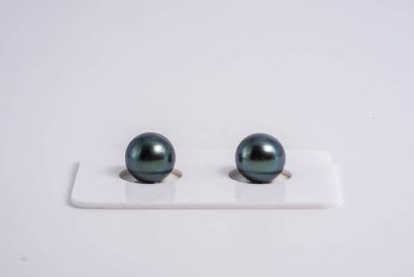 "9mm Matched Pearl ""Purplish Blue"" Color Round AA quality"
