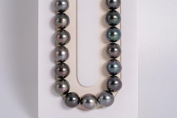 "49pcs ""Mixed with Pastel"" Necklace - NR 8-9mm AA quality Tahitian Pearl"