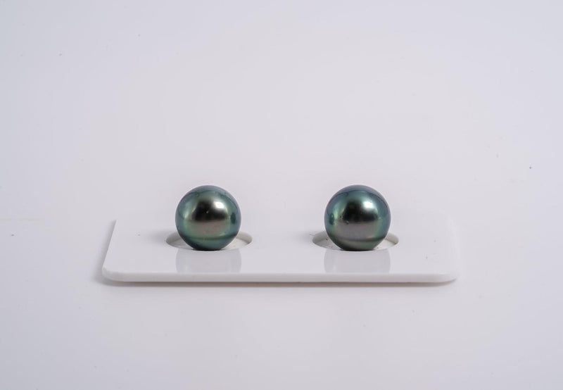 9mm Matched Pearl Pastel Blue Color - Semi-Round AA quality