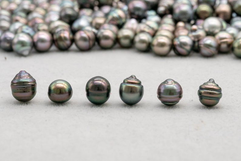 Tahitian Pearl - Circle (CL) - 8mm - Green - AA quality - BUY Tahitian Pearls jewellery wholesale - CMWPEARLS.COM