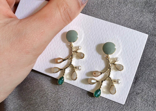 "Earrings ""Tree life"" Collection - BUY Tahitian Pearls jewellery wholesale - CMWPEARLS.COM"