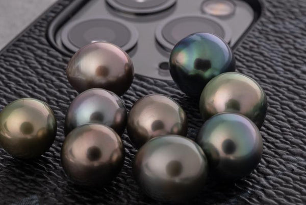 41pcs - AAA Semi-Baroque Multi Color 8-10mm - BUY Tahitian Pearls jewellery wholesale - CMWPEARLS.COM