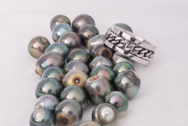 30pcs SB Green Mix A Quality Tahitian Pearl - BUY Tahitian Pearls jewellery wholesale - CMWPEARLS.COM